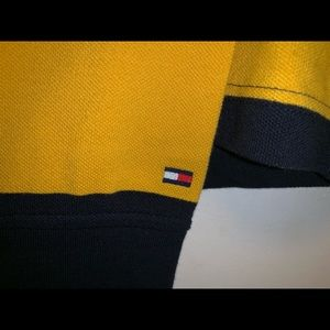 Tommy Hilfiger Shirts - Tommy Hilfiger Men's M. Rugby Stripe Logo Polo